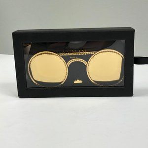 NEW Any Di Golden Eye Leather Sunglasses Case